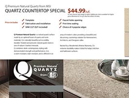 MSI Q Quartz Countertop Special